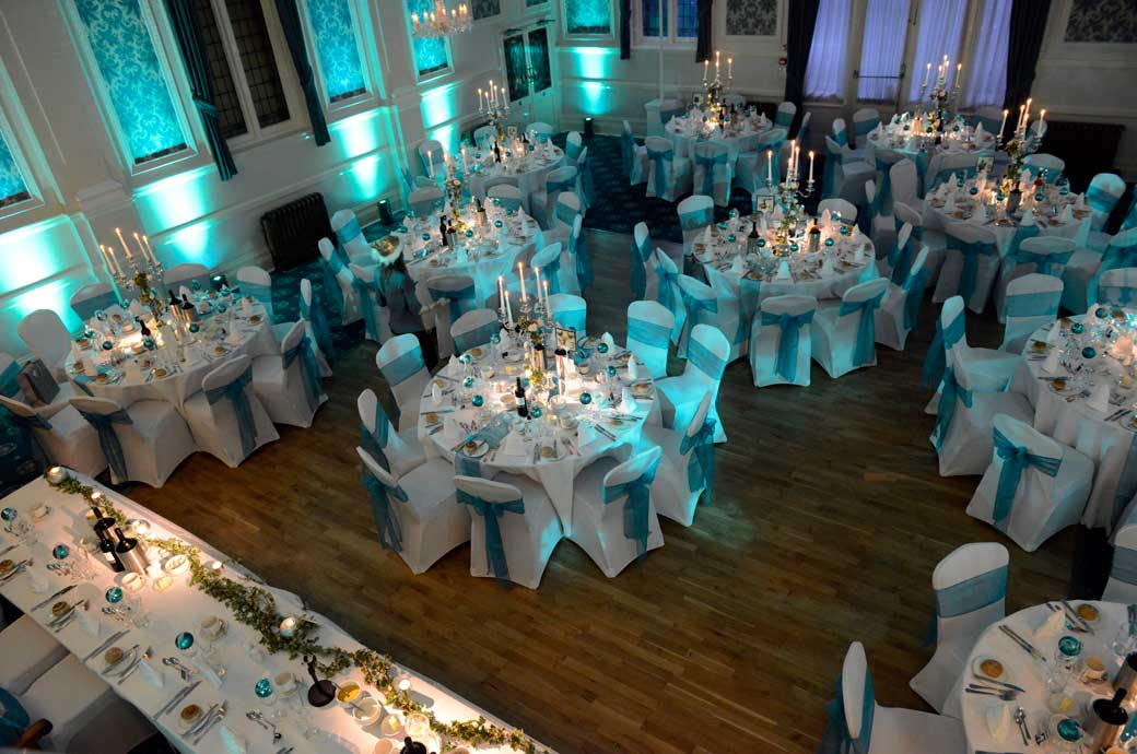 Lovely Aerial Wedding Picture Of The Elizabethan Suite In Teal Taken From Minstrel At