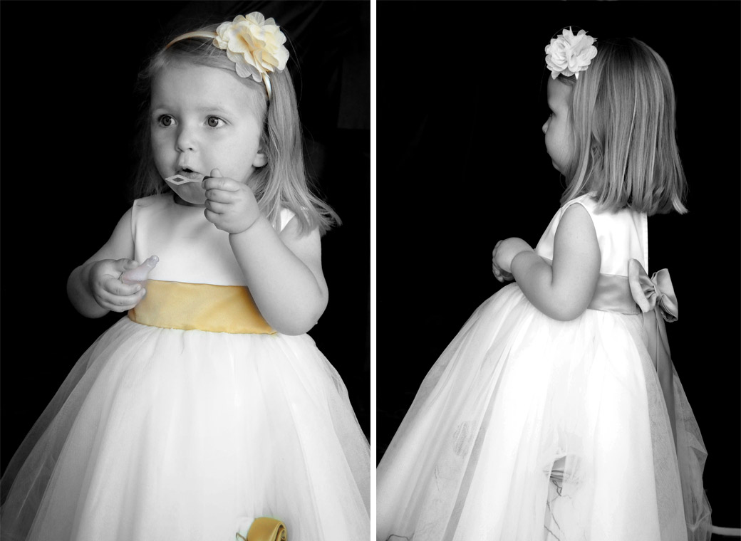 Cute bridesmaid blowing bubbles wedding photographs taken at Shirley Park Golf Club by Surrey lane wedding photographers