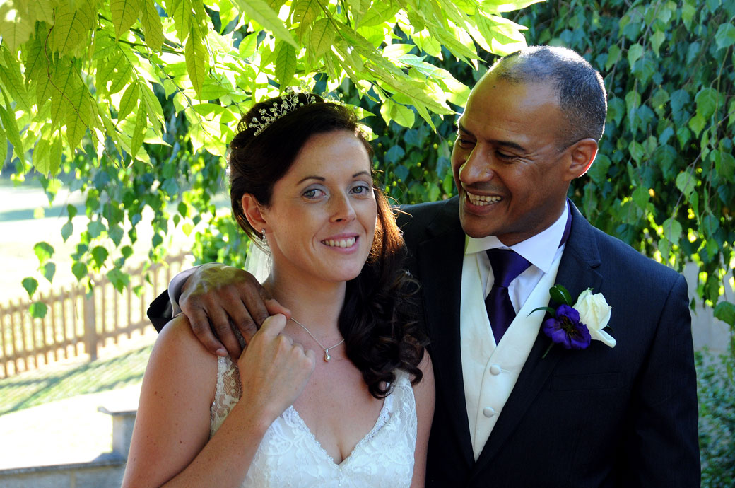 Beautiful Bride and Groom wedding portrait taken by Surrey Lane wedding photography at The Oaks Golf Centre Carshalton