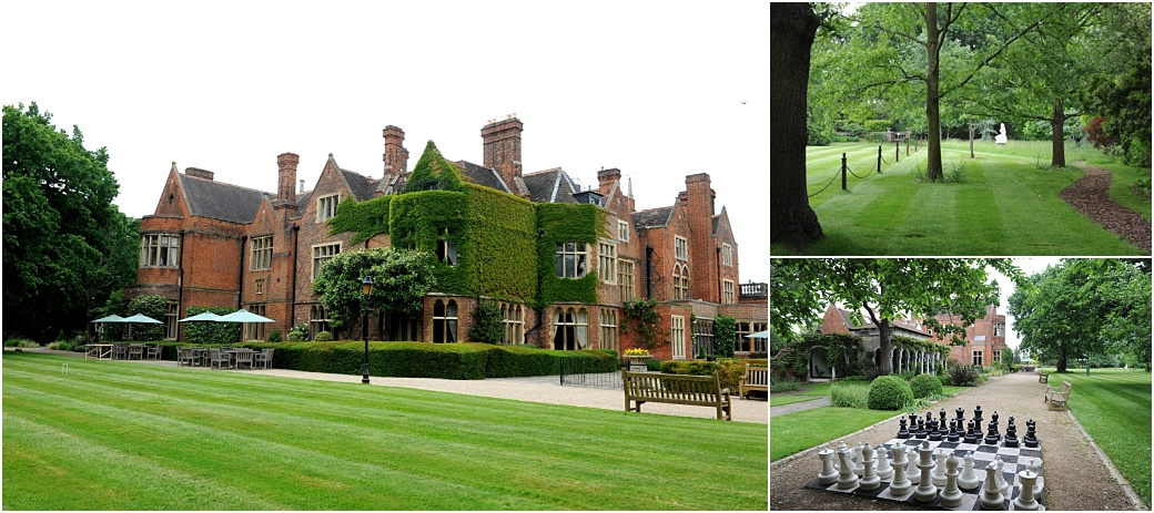 Views of the elegant Victorian Grade II listed Warren House in Kingston a Surrey wedding venue sitting in 4 acres of tranquil landscaped gardens complete with chess sets and statues