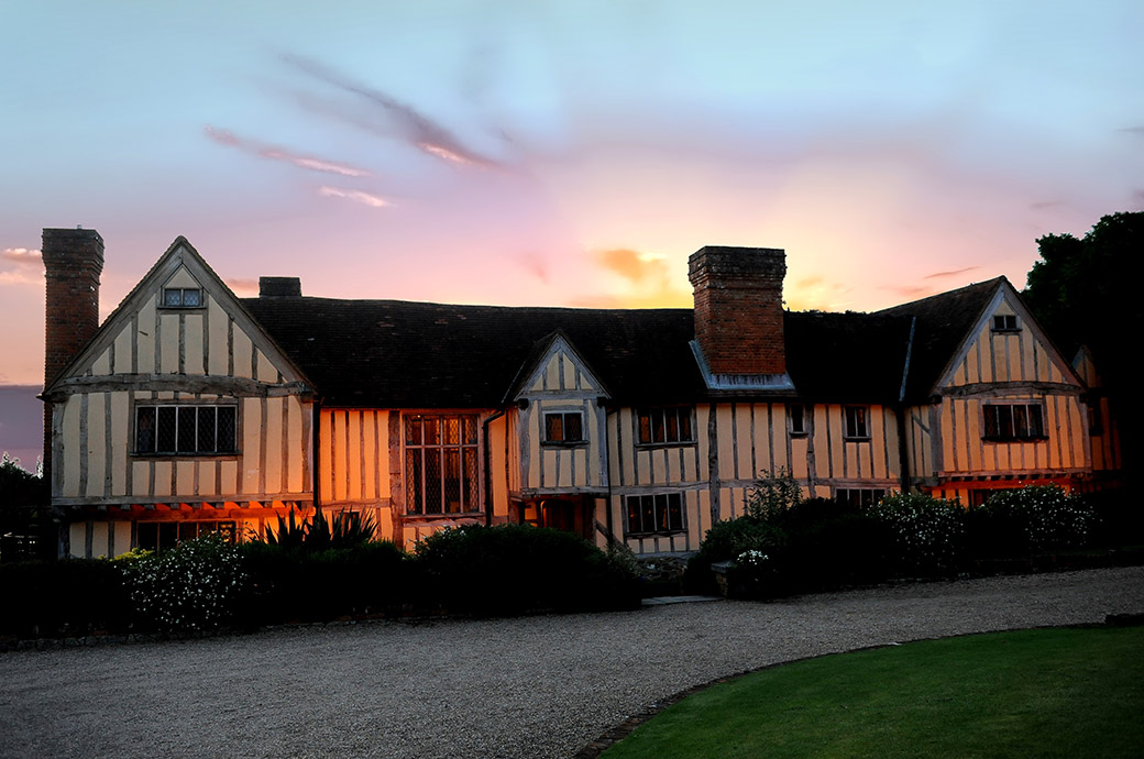 The ever picturesque Cain Manor is a charming 16th century barn style country house and Surrey wedding venue captured as the sun sets on a wonderful wedding day
