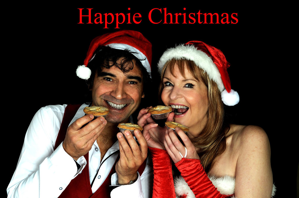 Surrey Lane wedding photographers get into the festive spirit eating as many mince pies as they can in this fun Christmas picture
