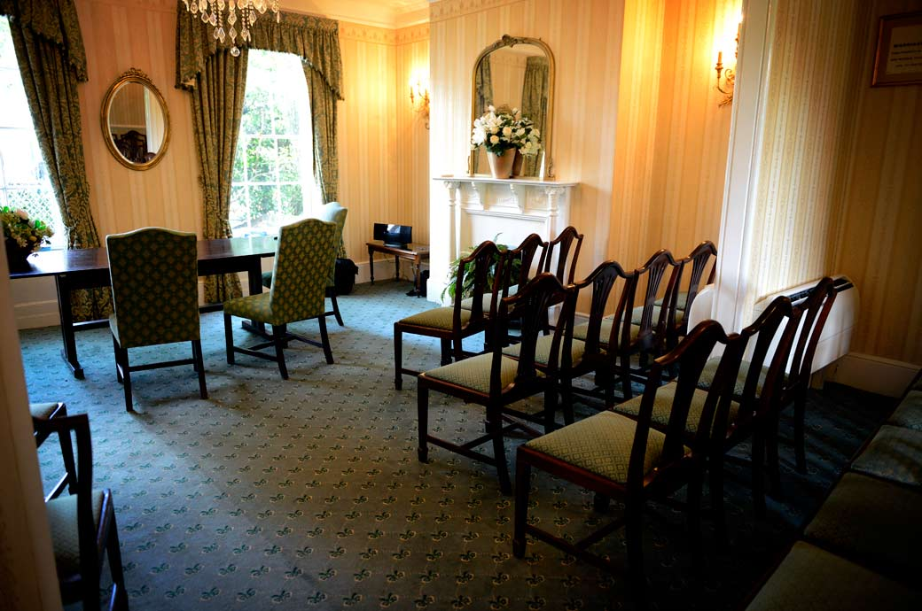 Photo of an empty No 1 Spring Terrace post- wedding ceremony room at Surrey wedding venue  Richmond Register Office
