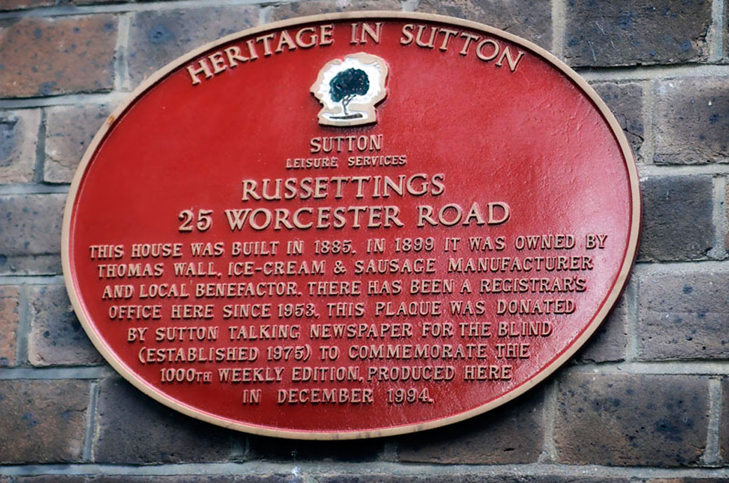 An interesting wedding picture of an information plaque with some historical detials of the Sutton Register Office's past captured by a Surrey Lane wedding photographer